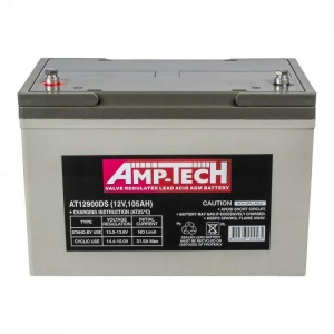 Amptech 100 Ah AGM Deep Cycle Auxiliary Battery