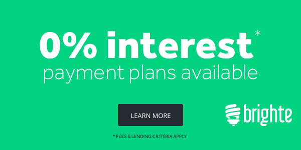 Brighte 0% Interest Payment Plans Available