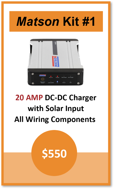 Dual Battery Kit Matson 20AMP