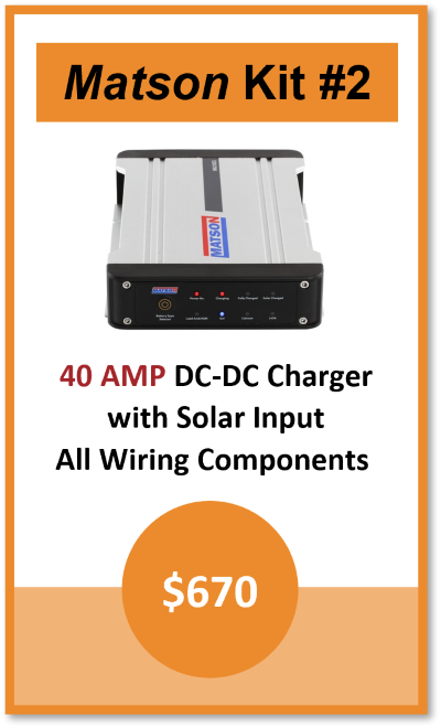 Dual Battery Kit Matson 40AMP