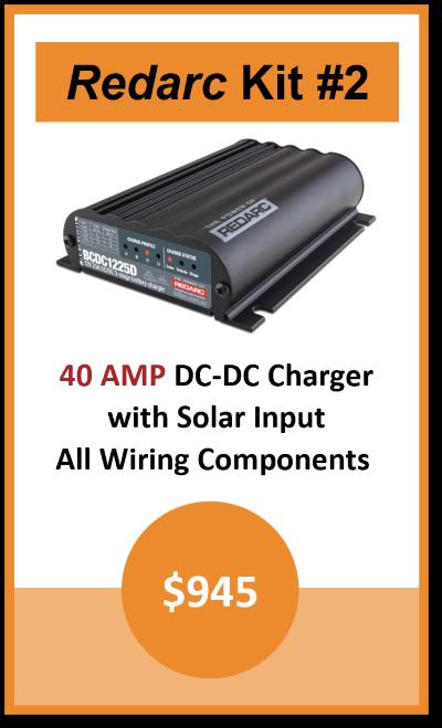 Dual Battery Kit Redarc 40AMP