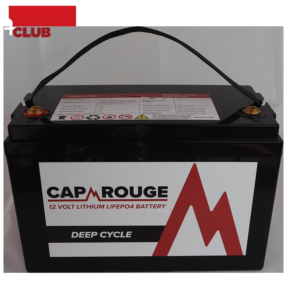Li Battery Cap Rouge 100Ah Top