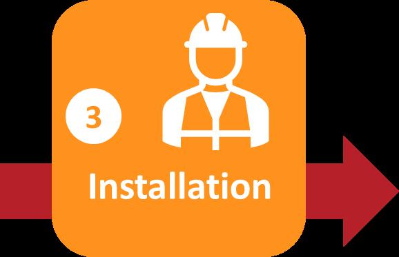 Solar Process Step 3 Installation